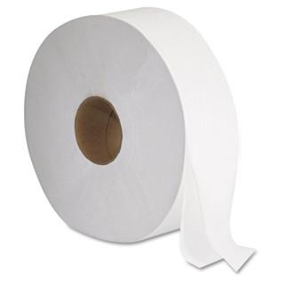 GEN1513 JRT Jumbo Bath Tissue, Septic Safe, 2-Ply, White, 1,378 ft Length, 6/Carton
