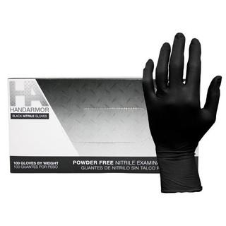 Hand Armor Black Nitrile Exam Gloves, Powder-Free, 5.0 Mil, 1000/Case