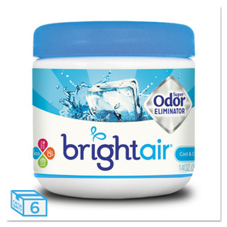 Bright Air Super Odor Eliminator, Cool & Clean, 14oz, 6/CT, BRI900090CT