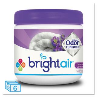 Bright Air Super Odor Eliminator, Lavender & Linen, 6 Jars, BRI900014CT