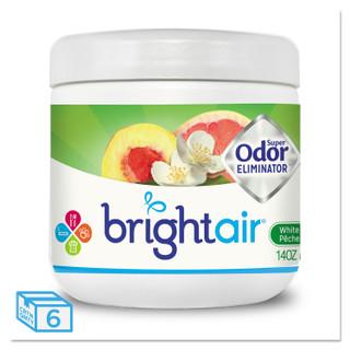 Bright Air Super Odor Eliminator, Peach & Citrus, 6 Jars, BRI900133CT