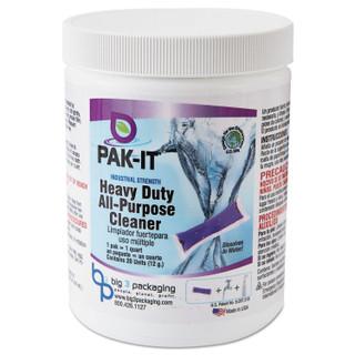 PAK-IT Heavy-Duty All-Purpose Cleaner, Pleasant Scent, 20 PAK-ITs/Jar, 12/Carton