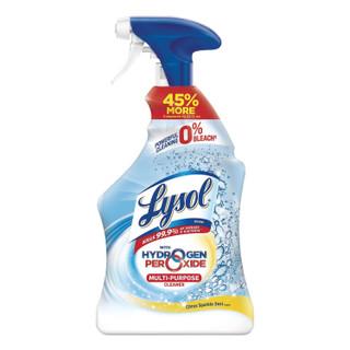 Multi-Purpose Hydrogen Peroxide Cleaner, Citrus Sparkle Zest, 32 oz Trigger Spray Bottle, 9/Carton