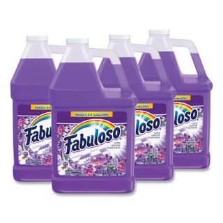 Fabuloso Multi-use Cleaner, Lavender Scent, 1 gal Bottle, 4/Carton