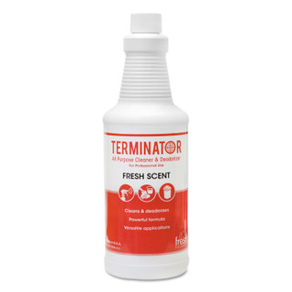 Terminator All-Purpose Cleaner/Deodorizer with (2) Trigger Sprayers, 32 oz Bottles, 12/Carton
