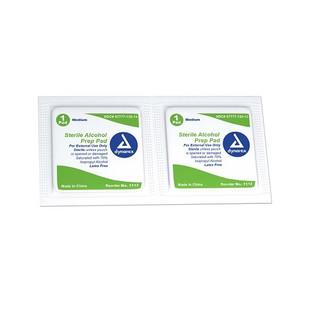 Dynarex DX1113 Alcohol Prep Pad, Medium, Sterile, 200/Box, 10 Boxes/Cs