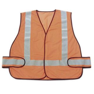 Honeywell RWS50003 High Visibility Orange Safety Vest With Reflective Stripes
