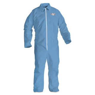 Kleenguard A65 Zipper Front Flame Resistant Coveralls, Large, White, 25/Cs