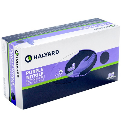 Halyard Purple Nitrile Chemo Approved Exam Gloves, 100/Box