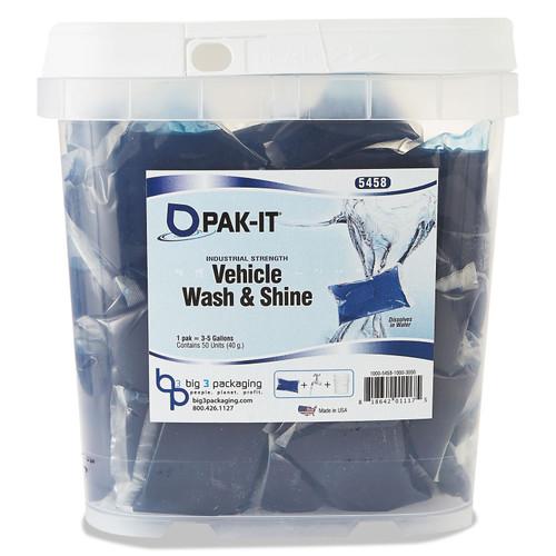Vehicle Wash & Shine, Blue, 50 PAK-ITs/Tub