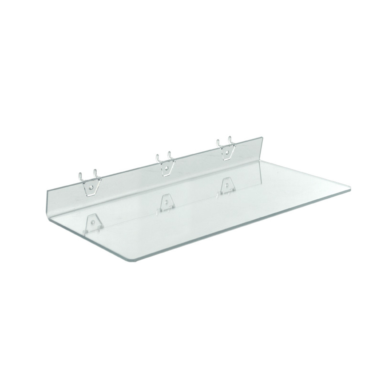 20 W X 8 D Clear Acrylic Shelf For Pegboard And Slatwall