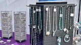 Handmade Jewelry Display in Local Street Market