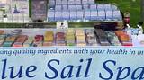 Blue Sail Soap Step Displays