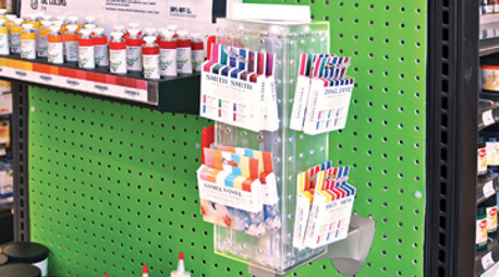 Blick Art DRAWS Customer's Attention to their Pegboard Wall