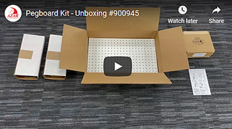 WATCH OUR PEGBOARD UNBOXING VIDEO