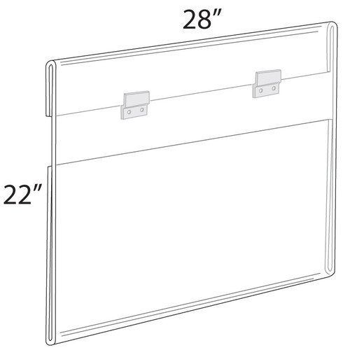 """28""""W x 22""""H Wall Mounted Poster Frame. Mounting Hardware Included."""