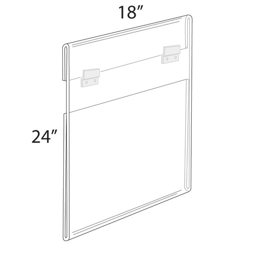 """18""""W x 24""""H Wall Mounted Poster Frame. Mounting Hardware Included."""