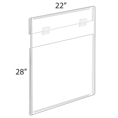 """22""""W x 28""""H Wall Mounted Poster Frame. Mounting Hardware Included."""