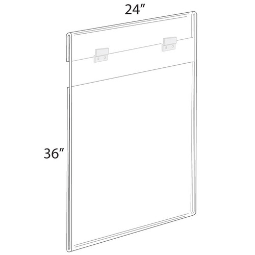 """24""""W x 36""""H Wall Mounted Poster Frame. Mounting Hardware Included."""