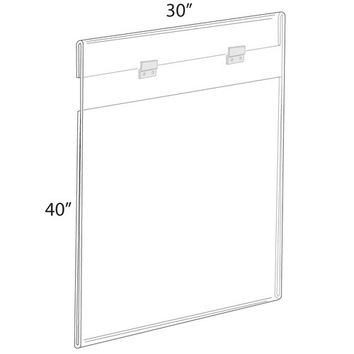 """30""""W x 40""""H Wall Mounted Poster Frame. Mounting Hardware Included."""