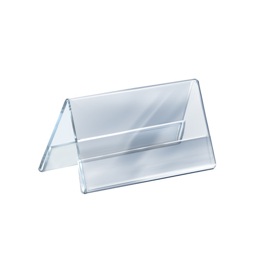 """Two Sided Tent Style Clear Acrylic Sign Holder and Nameplate, Size: 8.5"""" W x 5.5"""" H on each side"""
