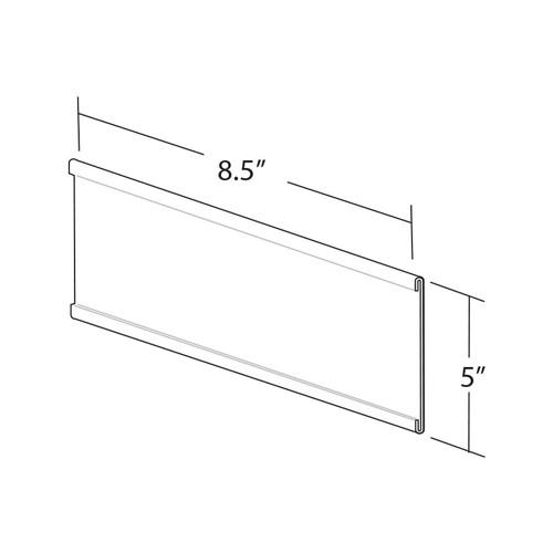 """8.5""""W x 5""""H Adhesive-Back Nameplate"""