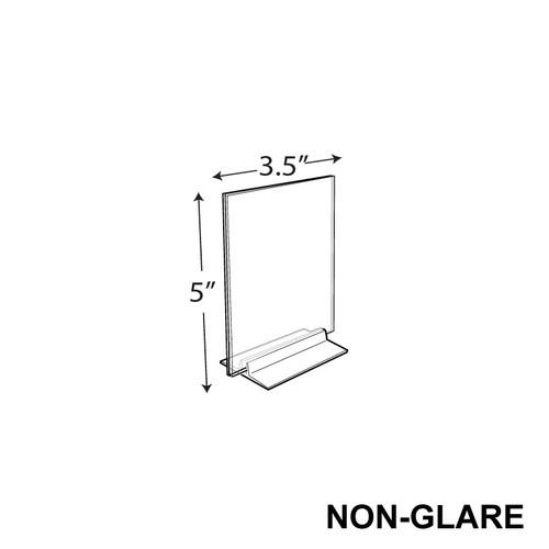 "CLOSEOUT: Non-glare Vertical/Horizontal T-Strip Sign Holder (3.5"" X 5"")"