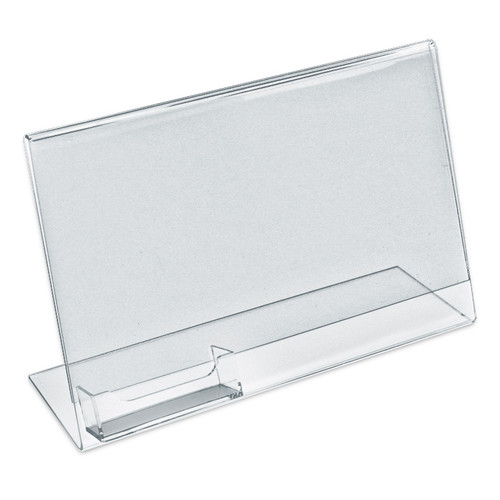 """11""""W x 8.5""""H L-Shaped w/ Attached Business Card Pocket"""