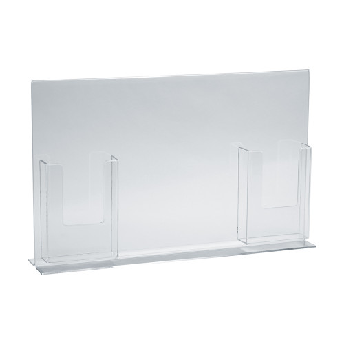 """Double-Foot Sign Holder w/ Two Trifold Pockets: 8.5""""W X 11""""H Graphic Size. Overall Frame Size: 18""""W x 11""""H"""