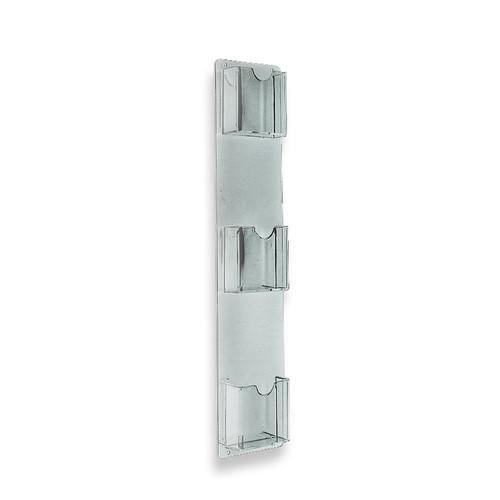 "Three-Pocket Vertical Wall Mount Brochure Holder. Inside Dimension: 4.125""W"