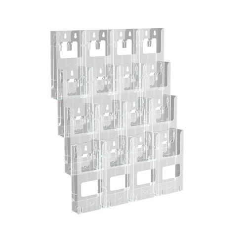 "16-Pocket Trifold Wall Mount. Inside Dimension: 4.375""W"