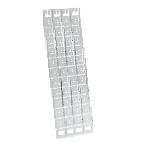 "48-Pocket Trifold Wall Mount. Inside Dimension: 4.375""W"