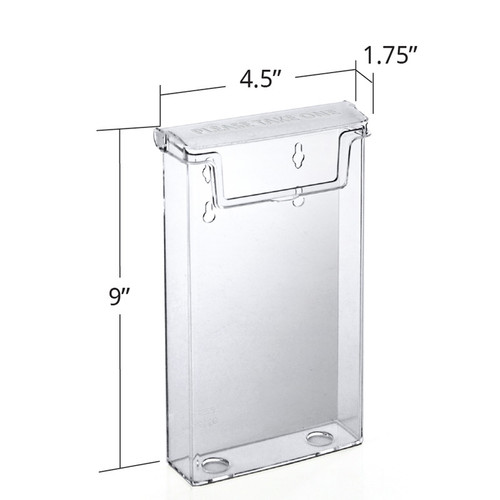 "CLOSEOUT: Outdoor Trifold Brochure Holder for 4.125""W x 9""H"