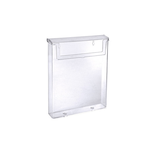 "Clear Outdoor Letter Brochure Holder w/ Clear Lid for  8.5""W x 11""H Literature"