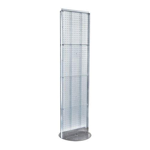"Two-Sided Pegboard Floor Display on Revolving Base. Spinner Rack Stand. Panel Size: 16""W x 60""H"