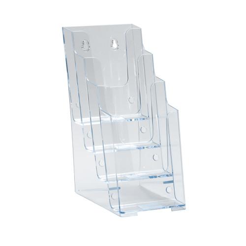 Four-Tier Four-Pocket Trifold Brochure Holder.
