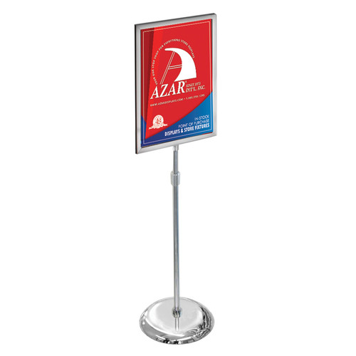 """18""""W x 24""""H Two-Sided Slide-In Floor Stand on Chrome Base"""