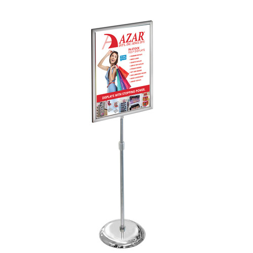 "22""W x 28""H Two-Sided Slide-In Floor Stand on Chrome Base"