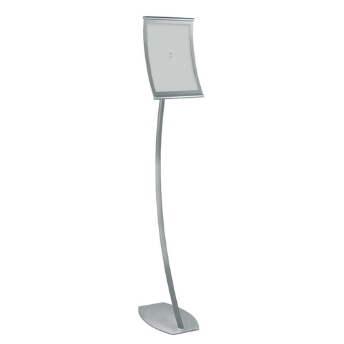 "8.5""W x 11""H Curved Metal Frame Floor Stand. Overall Height: 52"""