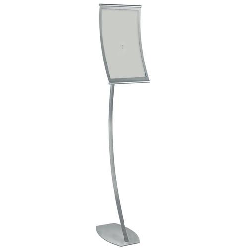 """11""""W x 17""""H Curved Metal Frame Floor Stand. Overall Height: 59"""""""