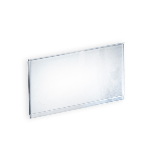 "Clear Acrylic Header Sign Holder For T-Sign Holder- Insert Your Own Graphic 11.875""W X 6""H"