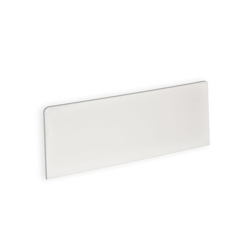 "White Rectangle Header Sign 8""W x 4""H"