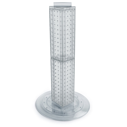 """Four-sided 4""""W x 24""""H Pegboard Tower with Revolving 14.5"""" Base"""
