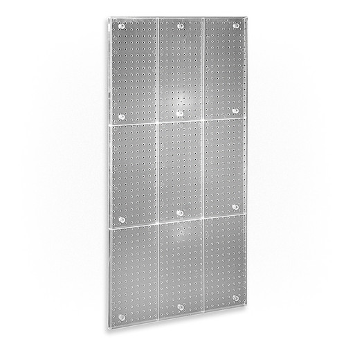"""24"""" x 48"""" One-Sided Pegboard Panel (CLEAR FROST ONLY)"""