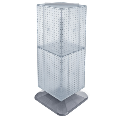 "Four-Sided Pegboard Tower Floor Display on Revolving Base. Panel Size: 14""W x 40""H"