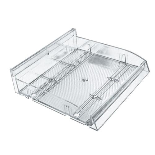 "Modular Adjustable Divider Bin Tray (Clear) 12"" Wide"