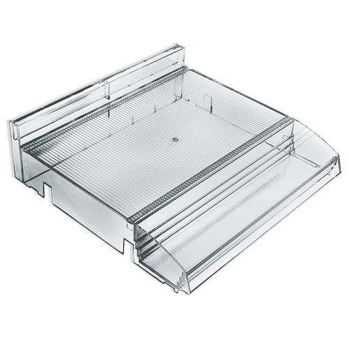 """Modular Adjustable Cosmetic Tray (Clear) 12"""" Wide with Tester Tray"""