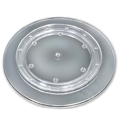 "14.5"" Wide Revolving Display Base-SLOPED CLEAR"