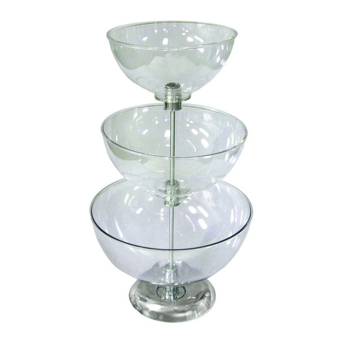 "Three-Tier 10"", 12"" & 14"" Bowl Counter Display"