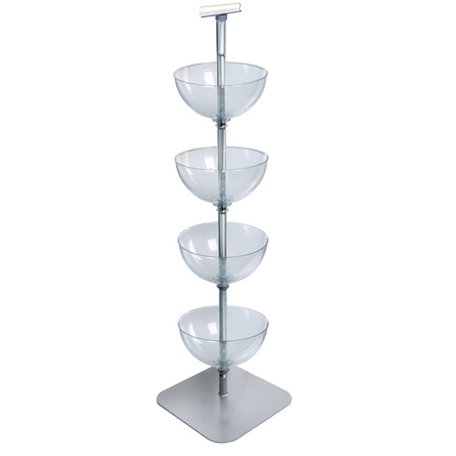 "Four-Tiered 14"" Bowl Floor Display"